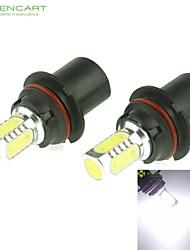 9004 HB1 P29T 10W 900Lm 5 x COB LED Cold White Light Polarity Free Car Foglight / Headlamp / Tail Light (12-24V)