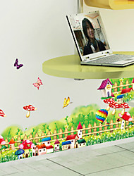 Wall Stickers Wall Decals,Mushroom And Hot Air Balloon PVC Wall Stickers