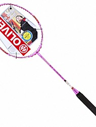 Men/Unisex/Women/Kids Badminton Rackets Low Windage/High Elasticity/Durable Pink 1 Piece Carbon Fiber