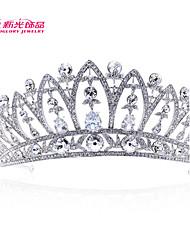 Neoglory Jewelry Clear Austrian Zirconia Rhinestone Flower Tiara Crown Hair Accessories for Lady Wedding