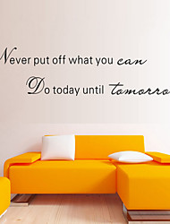 Wall Stickers Wall Decals Style Never Put Off English Words & Quotes PVC Wall Stickers
