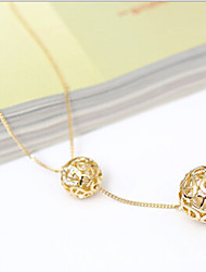 New Arrival Fashional Simple Fresh Popular Hollow Ball Necklace