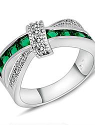 Anéis Casamento / Pesta / Diário / Casual / Esportes Jóias Zircão / Gema Feminino Anéis Statement 1pç,6 / 7 / 8 / 9 / 10 Verde