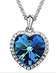 New Arrival Fashional Hot Selling Rhinestone Blue Crystal Necklace