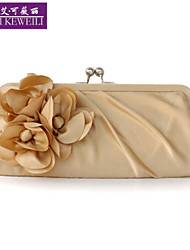 Women's Bag Fashion Silk Flower Evening Bag Korean Style Casual Clutch Bag All-Match Wedding Party Bags