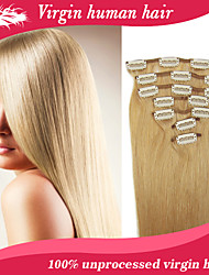 Ali Queen Hair Products Clip In Huamn Hair Extension Straight 7Pcs 70G  20 Colors Available Free ShippingWith DHL