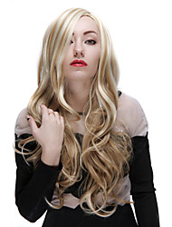 28 Inch Blonde Synthetic Long Wave Female Wig