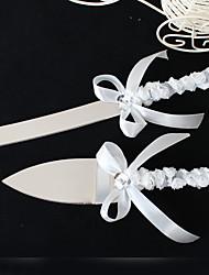 обслуживающие наборы аксессуаров обрабатывать торт нож и набор серверов с кружевной цветок сердца горный хрусталь, белый