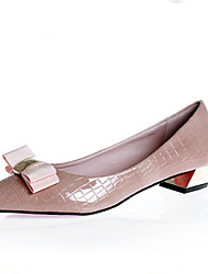 Women's Shoes Patent Leather/ Low Heel Pointed Toe/Closed Toe Loafers Casual Black/Pink/Gray