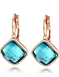 Drop Earrings Crystal Crystal Cubic Zirconia Simulated Diamond Alloy Jewelry Wedding Party Daily Casual 2pcs