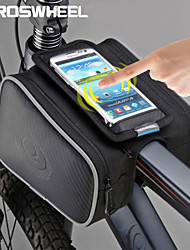 Roswheel Cycling Bike Bag Bicycle Front Top Tube Frame Pannier Double Bag Pouch for 5.5inch Cellphone 1.8