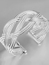 New Design Party/Work/Casual Silver Plated Cuff Bracelet Wholesale Price