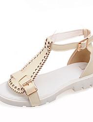 Women's Shoes Flat Heel Gladiator Sandals Dress Black/White/Beige