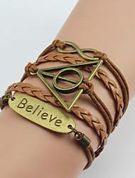 I&U  Women's  Believe English hand woven bracelet Infinite series bracelet