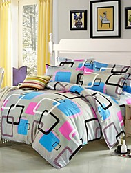 Mingjie® Box and stripe Queen and Twin Size Sanding Bedding Sets 4pcs Bed Linen China Wholesale