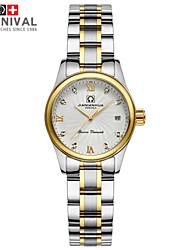 damas de diamantes jiannianhua reloj con incrustaciones de moda calendario de cuarzo relojes de moda reloj de acero inoxidable resistente