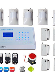 Android Touch Gsm Home Alarm System Wireless Wired Lcd Security Alarma