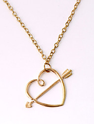 Women's Fashion Jewelry Harry Porter Vintage Casual Alloy Ron Horcrux Love Arrow Through Heart Pendant Necklace