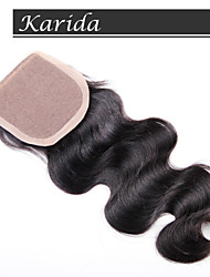 Virgin Brazilian Silk Base Closures,Stock Human Hair Silk Base Closure Wholesale