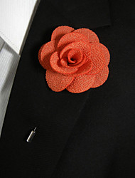 Men's Casual Orange Silk Goods Brooch