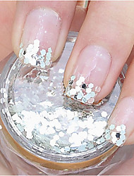 Silver Hexagonal Glitter Tablets Nail Art Decorations