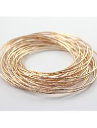 love2sis textura do ouro em relevo ou pulseira de prata * 1set