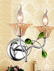 Wall Sconces/Bathroom Lighting/Candle Wall Lights Crystal Modern/Contemporary Metal