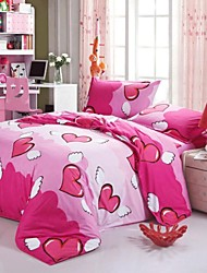 Mingjie Red Love Bedding Sets 4pcs Duvet Cover Sets Bed Linen China Queen Size and Full Size