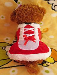 Собаки Платья Красный Зима Рождество Рождество