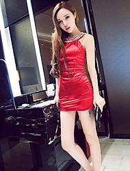 Women's Fashion Halter Beaded Dress