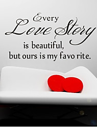 Every Love Story Is Beautiful Wall Decals Zooyoo8145 Living Room Removable Vinyl Wall Stickers Home Decoration