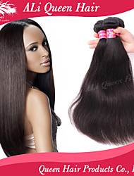 Ali Queen Hair products 6A Brazilian Virgin Hair Staight Natural Black Hair 3pcs/Lot With DHL Free Shipping