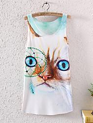 Ronde hals - Katoen/Polyester/Lycra Vrouwen - T-shirt - Korte mouw