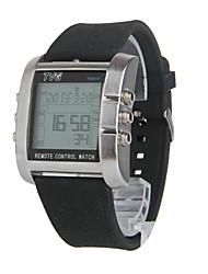 Men's Silicone Strap Remote Control Alarm TV DVD Remote Digital Sport Military Watches