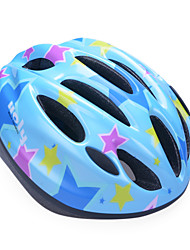Fashion Comfortable+Safety EPS 10 Vents Kids' Integrally-molded Cycling Helmet - Purple + Sky Blue + Blue