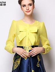 Women's Yellow Blouse Long Sleeve