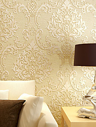 New Rainbow™ Classical Wallpaper Art Deco rich yellow luxury wallpaper Wall Covering Non-woven Paper Wall Art