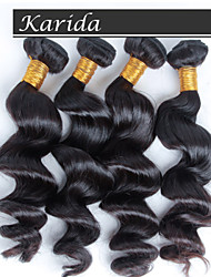 4 pcs/ lot Free Shipping Unprocessed Virgin Queen Brazilian Human Hair, Brazilian Loose Wave Virgin Hair