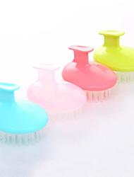 brosse les cheveux shampooing cuir chevelu de massage (couleur aléatoire)