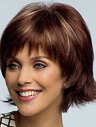 Europe And The United States  Sell Like Hot  Cakes  Style Highlights The Become Warped Short Brown Wig