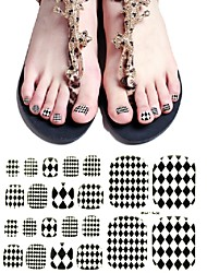 22PCS Mix Sizes  False Toe Nail Art Stickers Decal for Foot Toes Nail Art Decorations