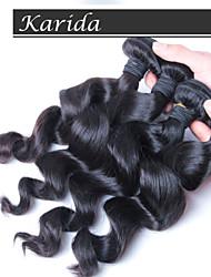 4 PC / Los lose Welle 100% malaysische Haarbündel, freies Verschiffen des reinen brasilianischen malay peruanisches Haar Großhandel
