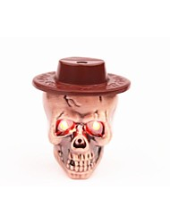 Creative Person Cranial Head Flash Music Hat Band Lights A Cigarette Lighter Color Random
