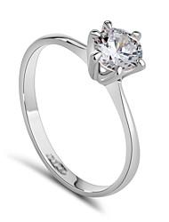 Feminino Maxi anel bijuterias Cristal Zircônia Cubica Liga Jóias Para Casamento Festa Noivado Diário Casual