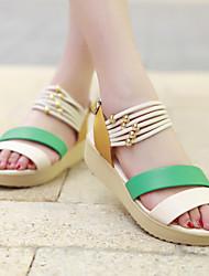 Sakura Women's Shoes Blue/Green/Red Wedge Heel 3-6cm Sandals