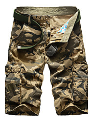 Men's Mid Rise Inelastic Shorts Pants,Vintage Relaxed Camouflage