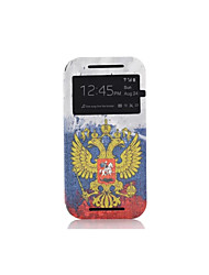 Luxury View Window PU Leather Flip Case Stand Cover For Motorola G2 MOTO G 2nd Gen  Painting Cases PY