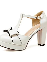 Damen High Heels Pumps Künstliche Mikrofaser Polyurethan Nubukleder PU Frühling Sommer Hochzeit Kleid Party & Festivität PumpsSchleife