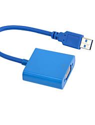 3.0usb превратить VGA Внешний USB видеокарты VGA конвертер для преобразования 1920x1080 мульти-экран привода бесплатно