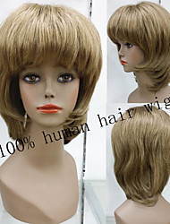 Exquisite Dark Blonde 100% Human Hair Wig Natural glueless cap wig Short  Remy Hair Wigs